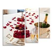 Картина Клубника и шампанское фото