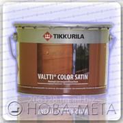 Лессирующий антисептик на основе талового и льняного масла для дерева Валтти Колор Сатин ЕС 9,0 л фото