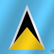 Флаг национальный Сент-Люсия фото