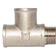 Тройник латунный никель 1/2 дюйм ВВН RS, арт.22420 фото