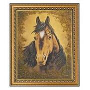 "Картина ""Лошадь"" багет 24х29 см 5076 фото"