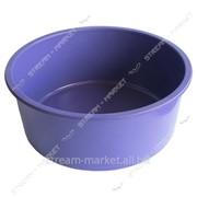 Таз полиэтиленовый не пищевой 15л цветной круглый №438435 фото