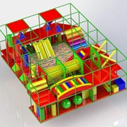 Изготовление детских игровых лабиринтов, комнат, мягких модулей, сухих бассейнов фото