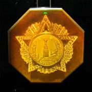 Сувенир голографический с подсветкой настольный Орден Победа фото