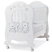 Кровать Italbaby Детская кровать Happy Family Oblo, белый фото