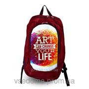 Рюкзак с фотопечатью Искусство изменит твою жизнь фото