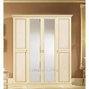 Шкаф 4-х дверный Неола Беж фото