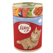 Консерва для котов с рыбой в нежном соусе 415г - МЯУ фото