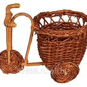 Велосипед из бамбука с корич-ой или бело-коричнев.вазой (14*10*Н11), арт. 61509 фото