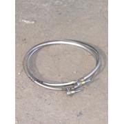 Хомут из нержавеющей стали: узкий, диаметр (ф130) фото