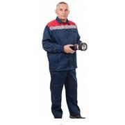 Рабочая Спецодежда Костюм Грета Премиум темно-синий-красный фото