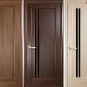 Дверь из бруса Новый стиль Делла BLK золотая ольха фото