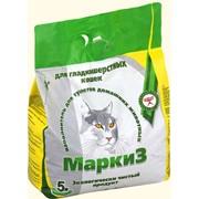 """Наполнитель для туалетов домашних животных Маркиз """"Для гладкошёрстных кошек"""" фото"""