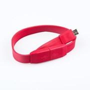 USB кабель «LP» Micro USB «плоский браслет» (белый/европакет) фото