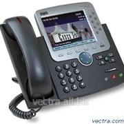 Проводной IP-телефон Cisco UC phone 7975, Gig Ethernet, Color, spare (CP-7975G=) фото