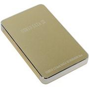 Корпус для HDD 2.5 SATA Orient 2568U3 USB 3.0 контейнер ASM1153E, алюминий, золотистый-металл фото