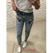 Женские джинсы МОМ с вышивкой. АК-3-0518 фото