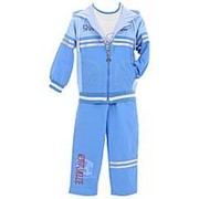 Трендовый костюм голубого цвета 10 фото