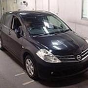 Хэтчбек NISSAN TIIDA кузов C11 пробег 76 тыс км цвет сапфир черный фото
