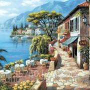 Картина по номерам Кафе на берегу моря фото