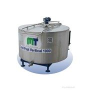 Вертикальный охладитель молока открытого типа 1000 литров фото