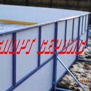 Хоккейная коробка из стеклопластика 20х40м фото