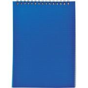 Блокнот на спирали, клетка, пластик.обложка, синий, ф. А7, 40л (SPONSOR) фото