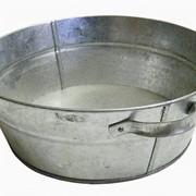 Тазы оцинкованные емкостью 13 и 21 л, широко используются для стирки, купания, хранения и переноски жидкостей и других продуктов. фото