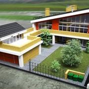 Проект дома, коттеджа - индивидуальное проектирование современных домов - Эскизный проет - пример фото