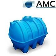 Бак пластиковый 2000 литров горизонтальный цилиндрический с крышкой фото