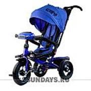 Трехколесный велосипед City H5 синий с надувными колесами 12-10 фото