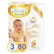 Подгузники HUGGIES Elite Soft 3 (5-9кг), 80шт фото