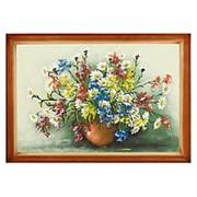 """Картина """"Полевые цветы"""" багет дерево 46х66 см фото"""