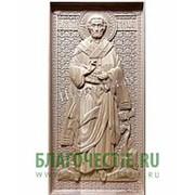 Резные иконы Тимофей, святой апостол, деревянная резная икона, ростовая мерная Высота иконы 38 см фото
