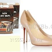 Бежевая краска для обуви NLS фото
