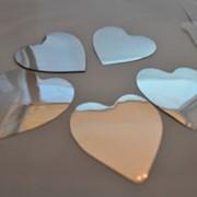 Сердечки серебрянные, свадебные аксессуары, конфетти, метафан фото