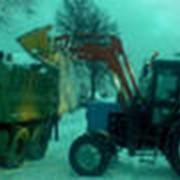 Сбор и вывоз снега фото