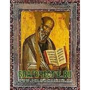 Благовещенская икона Иоанн Богослов, святой апостол евангелист, копия старой иконы, печать на дереве Высота иконы 11 см фото
