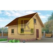 Каркасно-щитовой дом Проект №6 6х6 фото