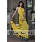 Длинное платье Платье желтое (194/Л) фото