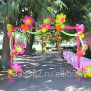 Украшение шарами на детский праздник фото