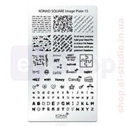 Мини пластина для стемпинга Konad Square Image Plate 15 фото