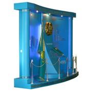 Объемный стенд с государственной символикой. 3,7 х 2,7 х 1 м. фото