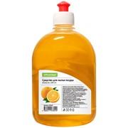 Средство для мытья посуды OfficeClean Апельсин, 500мл, пуш-пул фото
