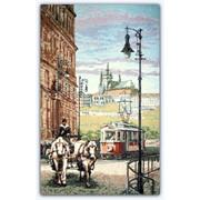 "Гобелен ""Старый трамвай"" 17х26 см фото"
