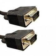 VGA\VGA M\M 1,5 кабель, 1,5м., D-SUB (VGA) Male-->D-SUB (VGA) Male, Чёрный, Пакет фото