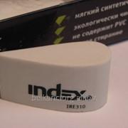 """Ластик """"INDEX"""" 50*22 мм,белый,капля,IRE310. фото"""