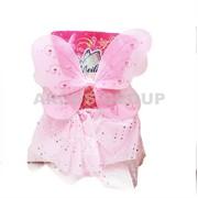 Крылья феи розовые с юбкой (60см) фото