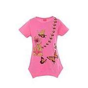 Модная футболка розового цвета с коротким рукавом 8 фото