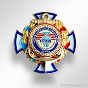 Наградной знак Почетный судостроитель для судостроительного завода Залив DIC-0535 фото